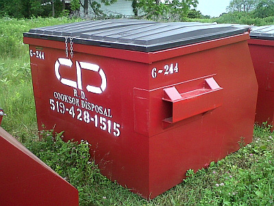 Front Loader Bin Rental in Bookton, Ontario